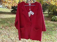 Armani Collezioni Women's Double Breast Dress Jacket Red Size 14 NWT Brand New