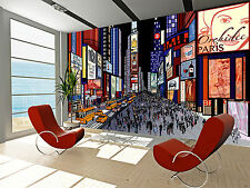 New York - Night  Wall Mural Photo Wallpaper GIANT WALL DECOR ,FREE GLUE Bedroom