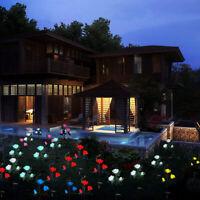 Waterproof Solar Rose Lamp Courtyard Garden Lawn LED Light Outdoor Party Decor