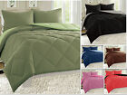 Reversible Comforter Set Down Alternative 3-Piece Bedding Super SOFT - 11 Colors