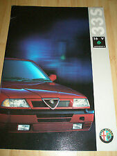 Alfa Romeo 33S 16v Cloverleaf Permanent 4 brochure 1985