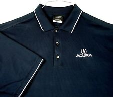 Acura Nike Golf Dri-Fit Blue Golf Polo Shirt Sz Large L Car GUC