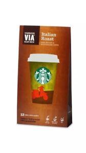 Starbucks Via Instant Coffee 12 Sachets flavour (Italian Roast)