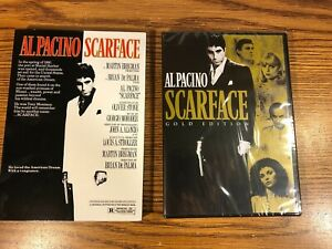 Scarface DVD Gold Edition + RARE SLIPCOVER AL PACINO NEW SEALED 1983 MOVIE 2020