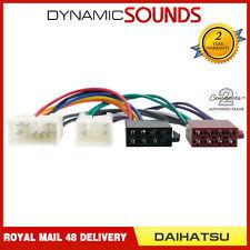 CT20DH01 Car Radio Stereo Wiring Harness Adaptor ISO Loom Lead For Daihatsu