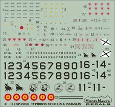 Model Maker Decals 1/72 Spanish Eurofighter EF-2000A Typhoon Stencils and Insign