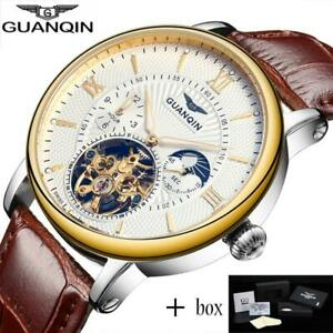 relogio masculino GUANQIN Mens Watches Luxury Brand Tourbillon Skeleton Automati