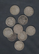 1858-1901 CANADA 10 CENTS SILVER COINS - LOT OF 10