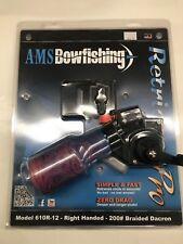 Ams Bowfishing Retriever Pro Reel Rh Hand Bow Fishing 200 pound Braided Dacron