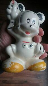 vintage ceramic disney mickey mouse bank