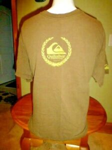 Quiksilver Brown T Shirt Short Sleeve Size Med
