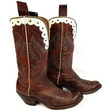 1950s Vintage Brown Leather Custom Vintage Cowboy Boots