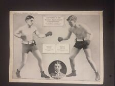"""rare ORIGINAL Poster /Supplement to """"BOXING"""".WILLIE RITCHIE V FREDDIE WELSH 1914"""