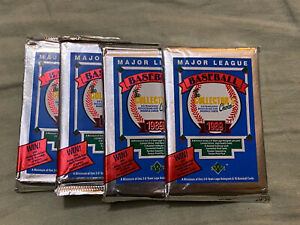 (4) 1989 Upper Deck Low Series Baseball Packs