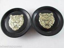 "JAGUAR slightly USED!!!! BLK/GOLD POP IN CUSTOM WHEEL CENTER CAP* #NO ID# 2"" (2)"