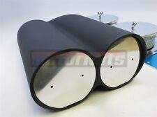 Black Aluminum intake Hood Scoop single/Dual carb Blower Shot Gun 4BBL StreetRod