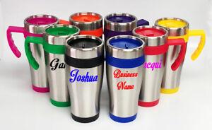 Custom Personalised Travel Mug Insulated Screw Lid Cup 450ml Teacher Xmas Gift
