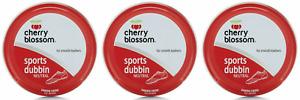3x Cherry Blossom Sports Dubbin Neutral Waterproof Leather Shoe & Boot Wax 50ml