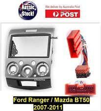 Ford Ranger PJ-PK & Mazda BT-50 Double 2 DIN Fascia Facia Kit ISO Wiring Harness