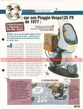 PIAGGIO VESPA 125 PX 1977 Joe Bar Team Fiche Moto #006152