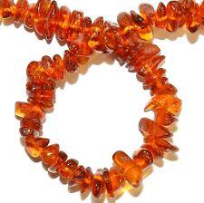 "GC161f Light to Medium Golden Amber 7mm - 12mm Natural Gemstone Chip Beads 15"""
