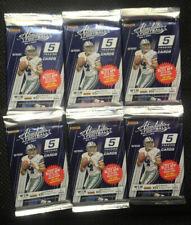Lot of 6 2017 Panini Absolute Football Retail 5 Card Packs