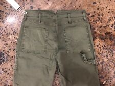HUDSON Womens The Leverage HIGH RISE ANKLE CARGO PANT GREEN Forester NWT SIZE 25