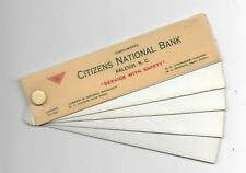 Vintage Celluloid Signature Blotter Citizens National Bank Raleigh Nc