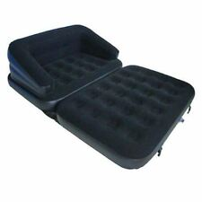 New Double Flocked Inflatable Sofa 5 In 1 Couch Bed Mattress Lounger Airbed Bed