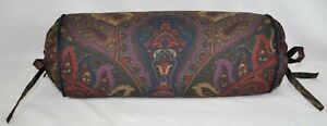 NEW Corded Bolster Neckroll Pillow made w Ralph Lauren Socialite Paisley Fabric