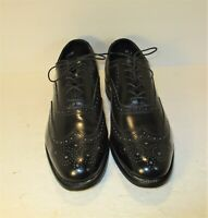 Executive Imperial by Mason USA Black Leather Brogue Wingtip Oxford Shoes-Sz-12D