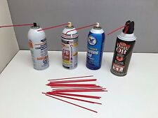 "20 7"" Replacement Aerosol Spray Can Red Straws Tubes Oil Cleaner Auto LPS WD40"