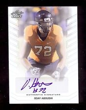 ODAY ABOUSHI 2013 Leaf Draft Virginia Cavaliers - Jets - Certified AUTOGRAPH RC