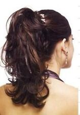 Dark Brown Auburn Clip in HAIR PIECE Ponytail Extension