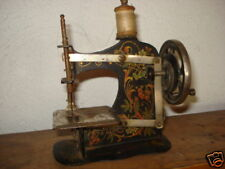 ANTIQUE 19c GERMANY TOY SHEWING MACHINE RARE BEAUTIFUL