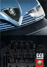 Alfa Romeo 145 1.6 Twin Spark Junior 1998-99 UK Market Sales Brochure