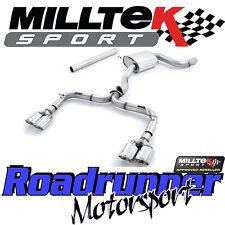 """MILLTEK SSXVW327 GOLF GTI MK7-R Style 3"""" Di Scarico Cat Indietro Non Res RACE polacco"""