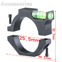 25.4mm 1 Inch Ring Mount Black Bracket For Airsoft Pistol Scope w/ Bubble Level