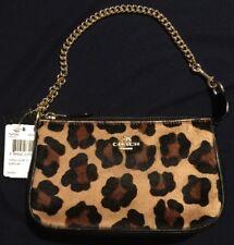 COACH Calf Hair Wristlet Bag F64583 Cheetah Animal Print HTF Purse FREE Shipping