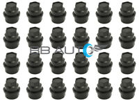 24 NEW BLACK LUG NUT COVERS CAPS CHEVY GMC SILVERADO 1500 2500 FULL SIZE TRUCK