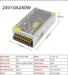 DC 24V 10A 240W Regulated Switching Power Supply Transformer Security Equipment