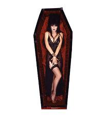 Elvira Coffin Lifesize CARDBOARD CUTOUT standee standup C829T