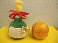 Knitting pattern & wool for  Champagne Bottle chocolate orange cover