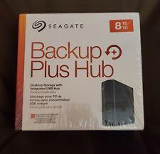 NEW Seagate Backup Plus Hub 8 TB External HDD Black USB 3.0 ~ USPS PRIORITY MAIL