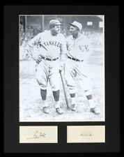 """Ty Cobb Babe Ruth 11x14 Matted Photo Hand Written Signed """"him a"""" JSA XMAS"""
