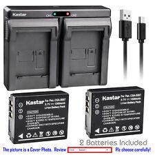 Kastar Battery Dual Charger for Panasonic CGA-S007 & Panasonic LUMIX DMC-TZ3S