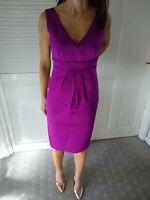 Ladies M&S Marks & Spencer Autograph Purple Wiggle Pencil Dress Size 8 Women