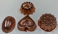 (4) Copper Toned Hang Up Jello Molds Ect Kitchen Decor