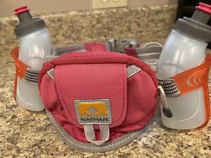 Nathan Womens ID Waist Pack Hydration Running Water Bottle Belt Pink