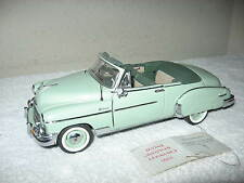 1950 CHEVROLET STYLELINE  DELUXE GREEN  FRANKLIN MINT 1:24  DIECAST NICE DETAIL!
